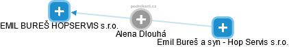 Alena Dlouhá - Obrázek vztahů v obchodním rejstříku