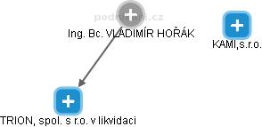 VLADIMÍR HOŘÁK - Obrázek vztahů v obchodním rejstříku