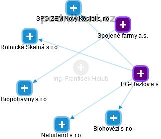 František Holub - Obrázek vztahů v obchodním rejstříku