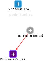 Halina Trsková - Obrázek vztahů v obchodním rejstříku
