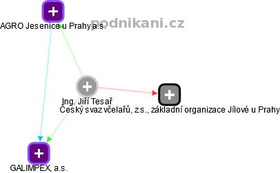 Jiří Tesař - Obrázek vztahů v obchodním rejstříku