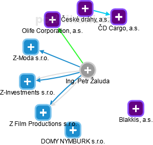 Petr Žaluda - Obrázek vztahů v obchodním rejstříku