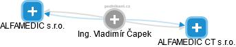 Vladimír Čapek - Obrázek vztahů v obchodním rejstříku