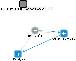 Jan Havlíček - Obrázek vztahů v obchodním rejstříku