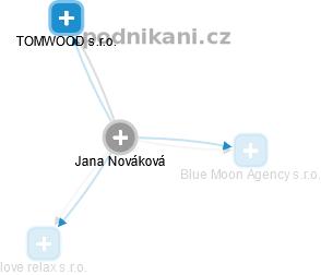 Jana Nováková - Obrázek vztahů v obchodním rejstříku