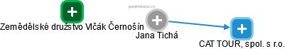 Jana Tichá - Obrázek vztahů v obchodním rejstříku
