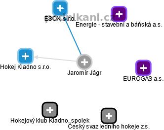 Jaromír Jágr - Obrázek vztahů v obchodním rejstříku