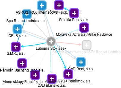 Lubomír Stoklásek - Obrázek vztahů v obchodním rejstříku