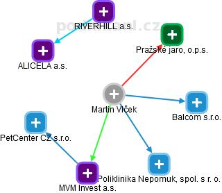 Martin Vlček - Obrázek vztahů v obchodním rejstříku