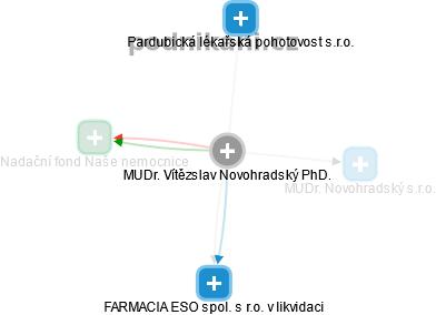 Vítězslav Novohradský - Obrázek vztahů v obchodním rejstříku