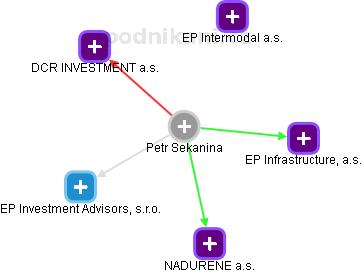 Petr Sekanina - obrázek vizuálního zobrazení vztahů v obchodním rejstříku