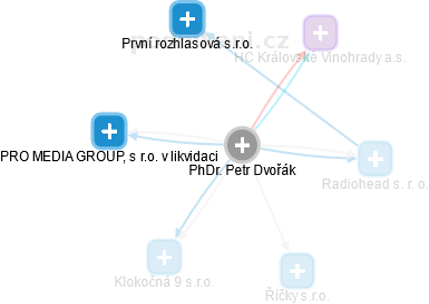 Petr Dvořák - Obrázek vztahů v obchodním rejstříku