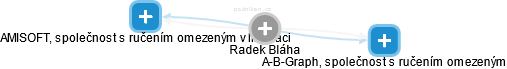 Radek Bláha - Obrázek vztahů v obchodním rejstříku