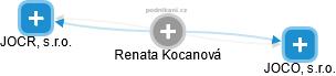 Renata Kocanová - Obrázek vztahů v obchodním rejstříku