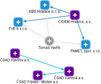 Tomáš Vavřík - Obrázek vztahů v obchodním rejstříku