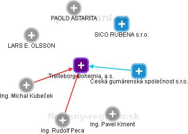 RUBENA a. s. - náhled vizuálního zobrazení vztahů obchodního rejstříku