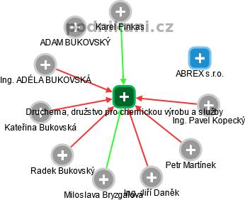 Druchema, družstvo pro chemickou výrobu a služby - náhled vizuálního zobrazení vztahů obchodního rejstříku
