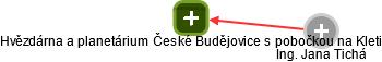 Hvězdárna a planetárium České Budějovice s pobočkou na Kleti - náhled vizuálního zobrazení vztahů obchodního rejstříku