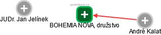 BOHEMIA NOVA, družstvo - náhled vizuálního zobrazení vztahů obchodního rejstříku