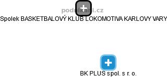 BK PLUS spol. s r. o. - náhled vizuálního zobrazení vztahů obchodního rejstříku