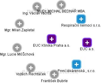 Medifin - zdravotní služby, a.s. - obrázek vizuálního zobrazení vztahů obchodního rejstříku