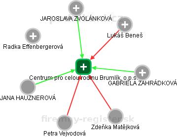 Centrum pro celou rodinu Brumlík, o.p.s. - náhled vizuálního zobrazení vztahů obchodního rejstříku