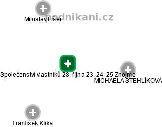 Společenství vlastníků 28. října 23, 24, 25 Znojmo - náhled vizuálního zobrazení vztahů obchodního rejstříku