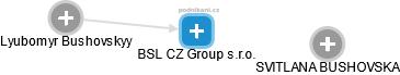 BSL CZ Group s.r.o. - náhled vizuálního zobrazení vztahů obchodního rejstříku