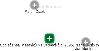 Společenství vlastníků Na Vackově č.p. 2895, Praha 3-Žižkov - náhled vizuálního zobrazení vztahů obchodního rejstříku