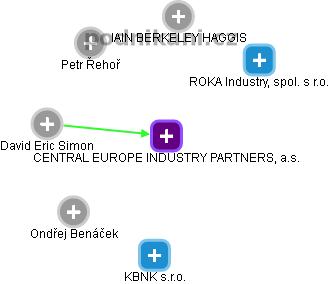 CENTRAL EUROPE INDUSTRY PARTNERS, a.s. - obrázek vizuálního zobrazení vztahů obchodního rejstříku