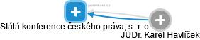 Stálá konference českého práva, s. r. o. - obrázek vizuálního zobrazení vztahů obchodního rejstříku