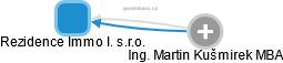 Rezidence Immo I. s.r.o. - obrázek vizuálního zobrazení vztahů obchodního rejstříku