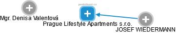 Prague Lifestyle Apartments s.r.o. - náhled vizuálního zobrazení vztahů obchodního rejstříku