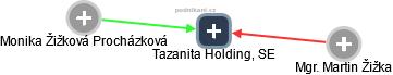 Tazanita Holding, SE - náhled vizuálního zobrazení vztahů obchodního rejstříku
