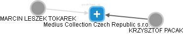 Medius Collection Czech Republic s.r.o. - náhled vizuálního zobrazení vztahů obchodního rejstříku