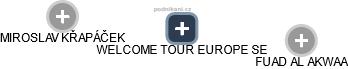 WELCOME TOUR EUROPE SE - náhled vizuálního zobrazení vztahů obchodního rejstříku