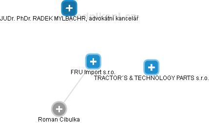FRU Import s.r.o. - náhled vizuálního zobrazení vztahů obchodního rejstříku