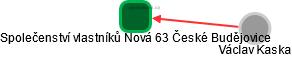 Společenství vlastníků Nová 63 České Budějovice - náhled vizuálního zobrazení vztahů obchodního rejstříku