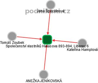 Společenství vlastníků Halasova 893-894, Liberec 6 - náhled vizuálního zobrazení vztahů obchodního rejstříku