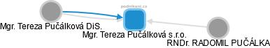 Mgr. Tereza Pučálková s.r.o. - náhled vizuálního zobrazení vztahů obchodního rejstříku