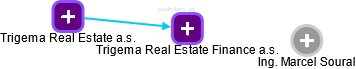 Trigema Real Estate Finance a.s. - obrázek vizuálního zobrazení vztahů obchodního rejstříku