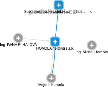 HOMOLA holding s.r.o. - náhled vizuálního zobrazení vztahů obchodního rejstříku