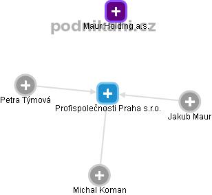 Profispolečnosti Praha s.r.o. - náhled vizuálního zobrazení vztahů obchodního rejstříku