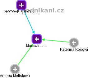 Mancato a.s. - náhled vizuálního zobrazení vztahů obchodního rejstříku