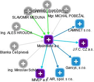 Mountfield a.s. - náhled vizuálního zobrazení vztahů obchodního rejstříku
