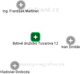 Bytové družstvo Tusarova 12 - náhled vizuálního zobrazení vztahů obchodního rejstříku