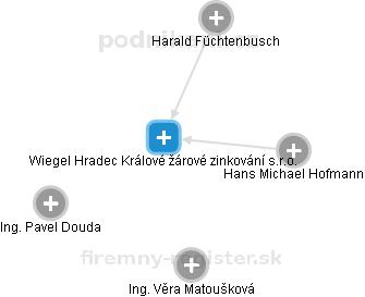 Wiegel Hradec Králové žárové zinkování s.r.o. - náhled vizuálního zobrazení vztahů obchodního rejstříku