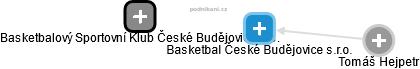 Basketbal České Budějovice s.r.o. - náhled vizuálního zobrazení vztahů obchodního rejstříku