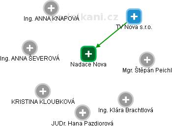 Nadace Nova - náhled vizuálního zobrazení vztahů obchodního rejstříku