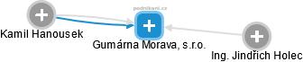 Gumárna Morava, s.r.o. - náhled vizuálního zobrazení vztahů obchodního rejstříku